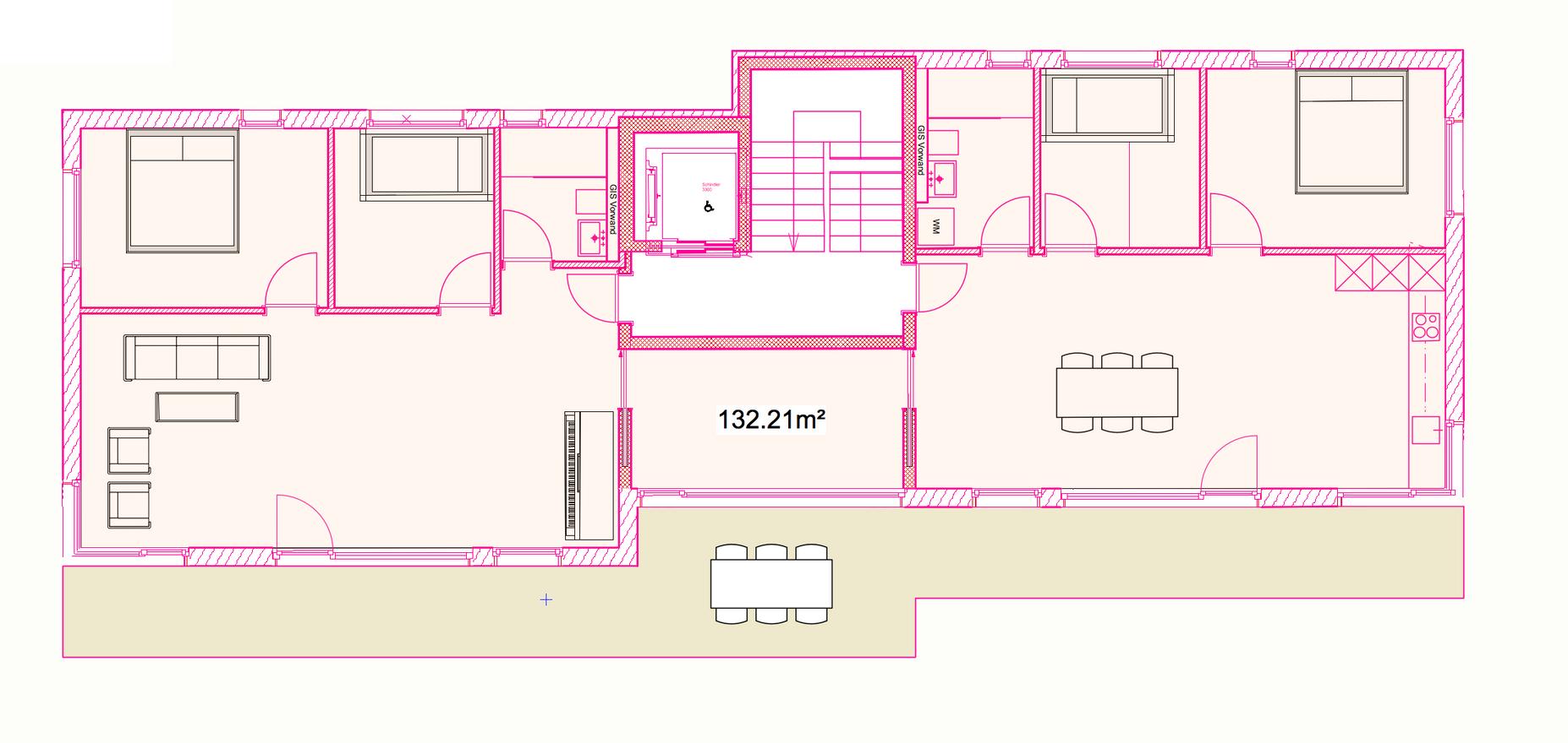 Mehrfamilienhaus Geschosswohung über ganze Etage