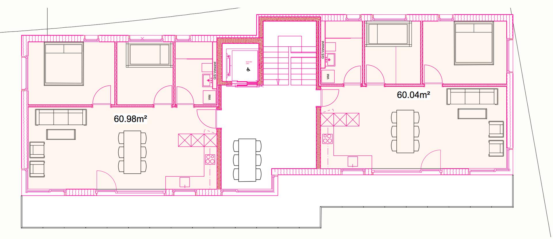 Mehrfamilienhaus Obergeschoss