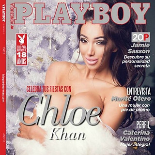 PLAYBOY MAGAZINE COVER (TV Star Chloe Khan)