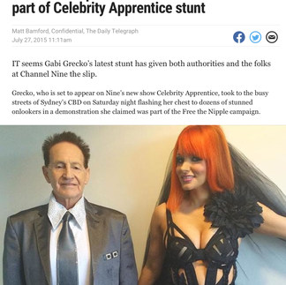 DAILY TELEGRAPH, AUSTRALIA (Celebrity Apprentice star & model Gabi Grecko)