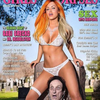 GIRLS AND CORPSES COVER (TV star & model Gabi Grecko)