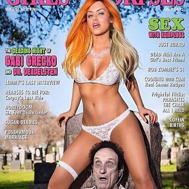 GIRLS AND CORPSES COVER (TV star & model Gabi Grecko)