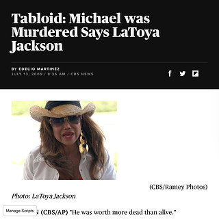 CBS NEWS (Singer/ TV star La Toya Jackson)