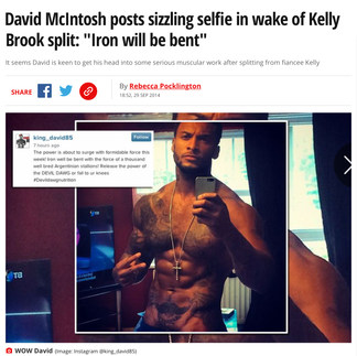 DAILY MIRROR (TV Star & Model David McIntosh)