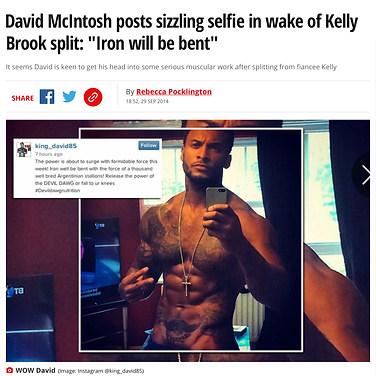 DAILY MIRROR (TV Star & Model David McIntosh)