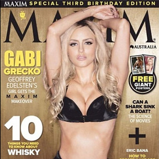 MAXIM MAGAZINE COVER (TV Star & Model Gabi Grecko)