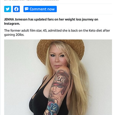 THE SUN NEWSPAPER (Celebrity Jenna Jameson)