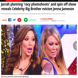 MIRROR NEWSPAPER (Reality TV stars Farrah Abraham & Jenna Jameson)