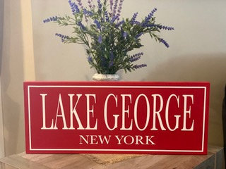 Lake George Wooden Sign