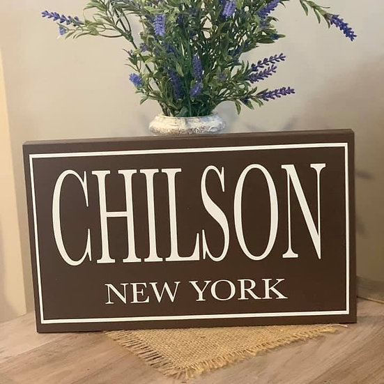 Chilson Wooden Sign