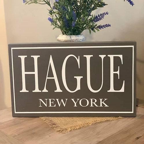 Hague Wooden Sign