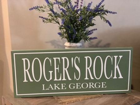 Rogers Rock Wooden Sign