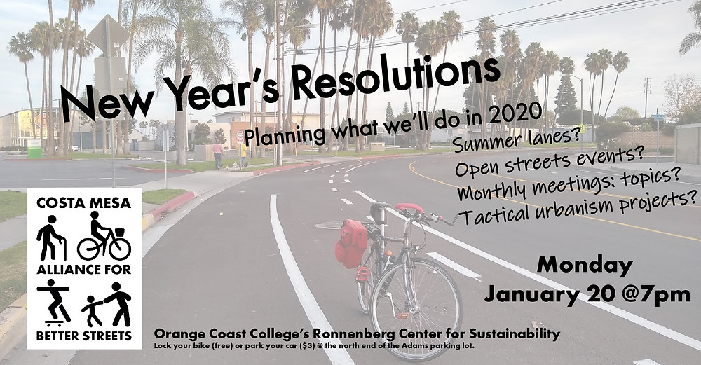January 20, 2020 CMABS meeting flier: New Years Resolutions: Planning what we'll do in 2020.