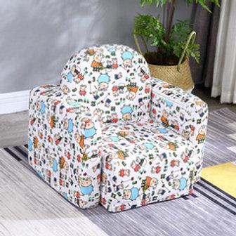 Multipurpose kids sofa - Flowery design