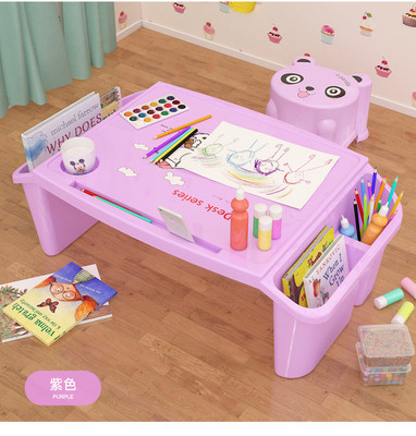 Children drawing table and stool