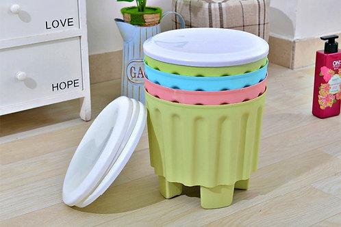 Children stackable storage stool