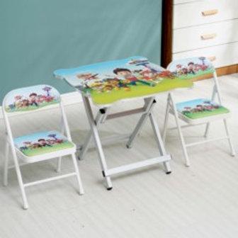 Cartoon foldable table and chair
