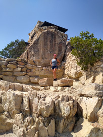 Julie posing at the Grand Canyon