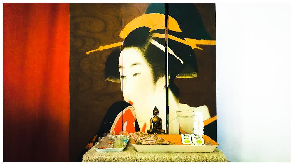 Biombo de Geisha