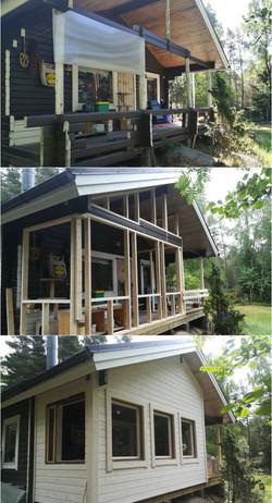 Från terrass till inglasad veranda