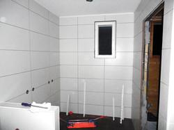 Kakelarbete i badrum