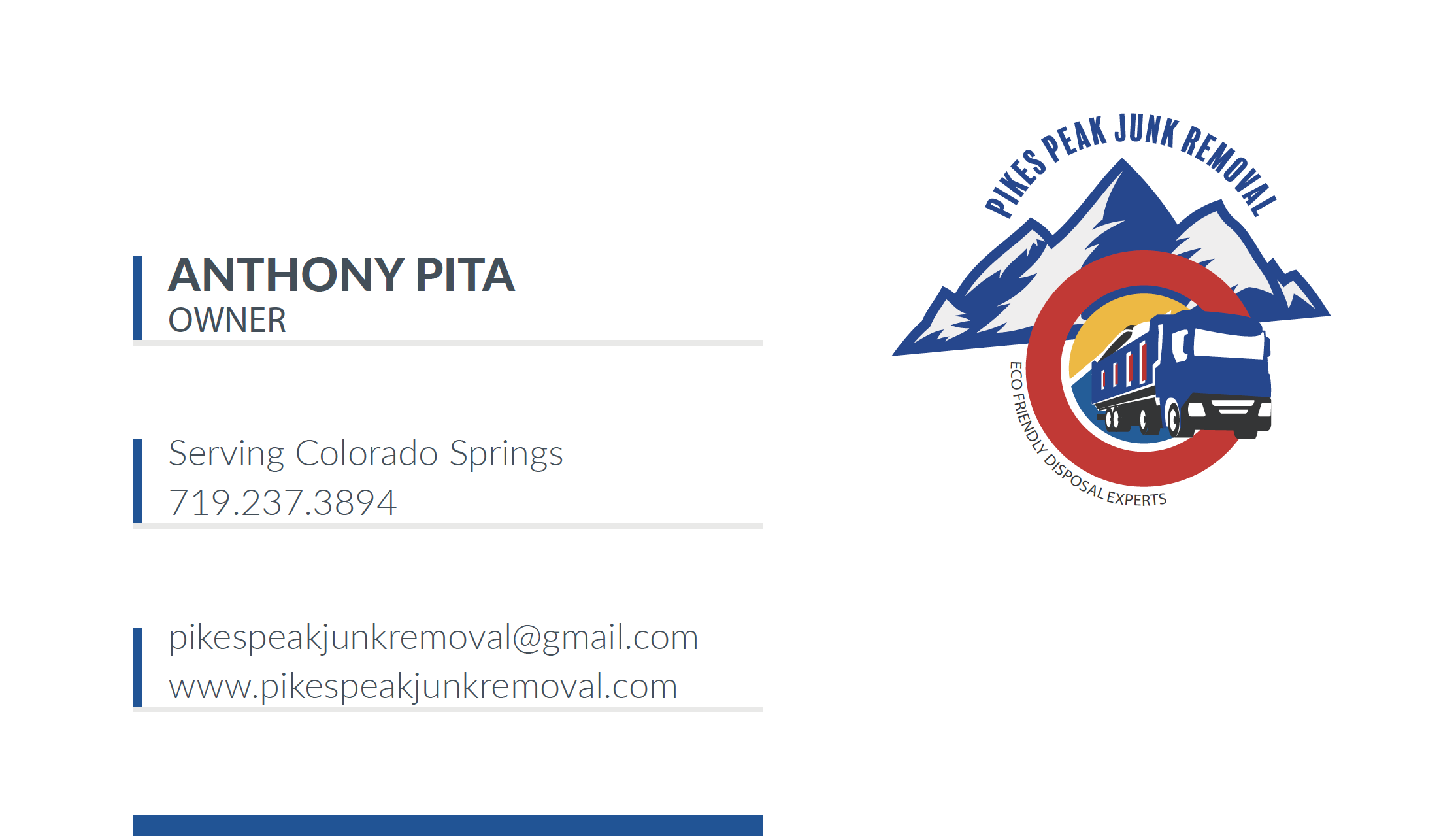 Pikes Peak Junk Removal_Business Card_Fr