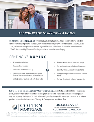 Renting vs Buying Flyer
