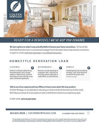 HomeStyle Renovation Loans Flyer