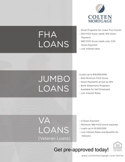 Open House Flyer Loan Products-Back
