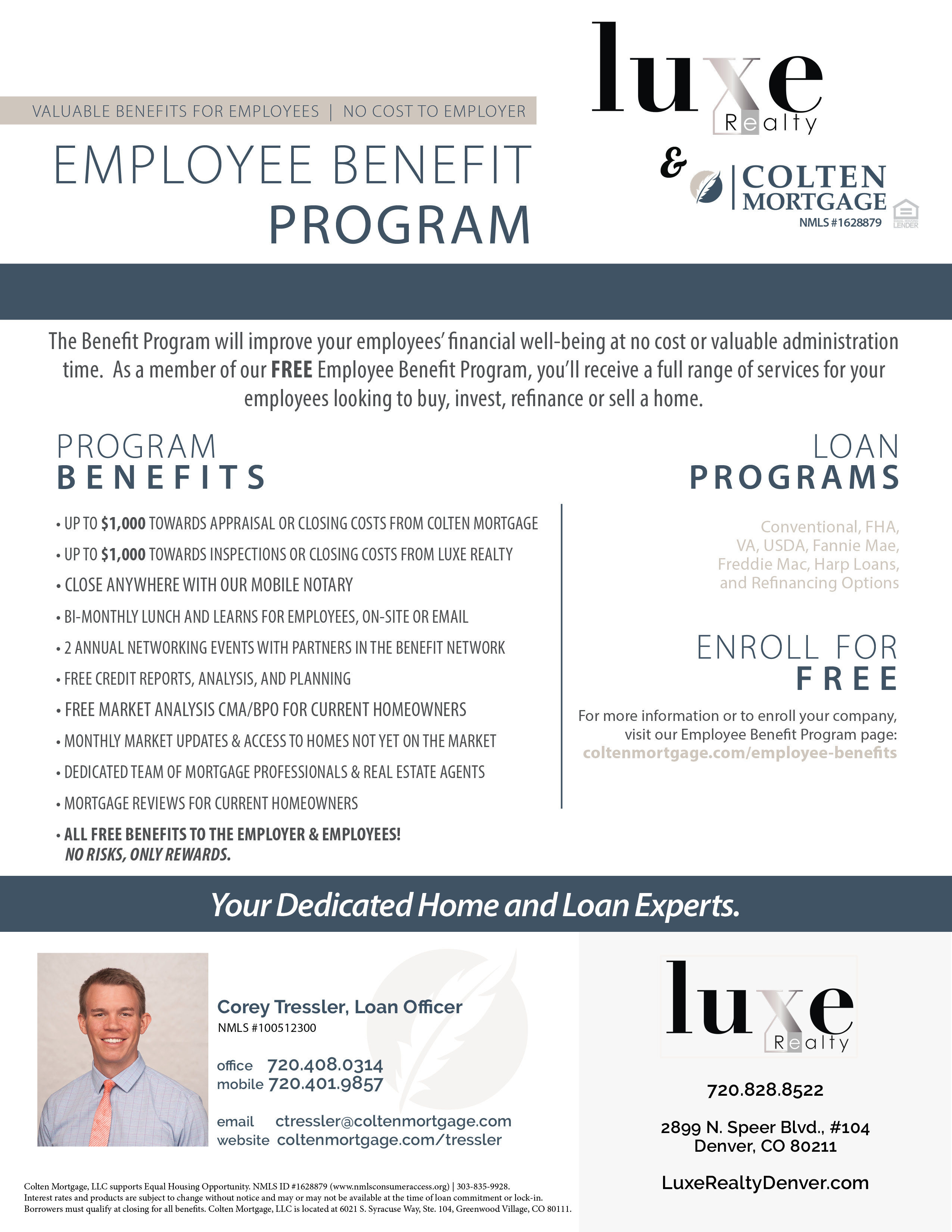 Benefit Program Flyer_Tressler & LUXE RE