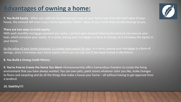 Mortgage Process Presentation - editable PowerPoint