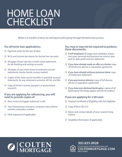 Home Loan Checklist Flyer
