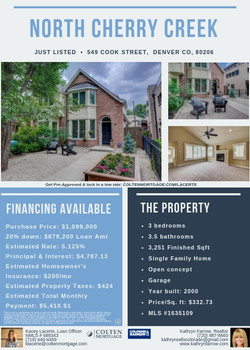 Real Estate Listing + Rate Flyer