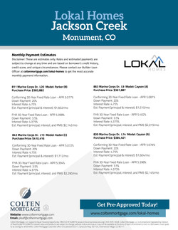 Lokal Homes-Pymt Estimates-JacksonCreek.