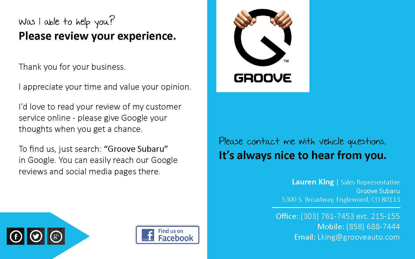 Test Drive Rating Card_Groove Subaru_8x5_FINAL_Page_1