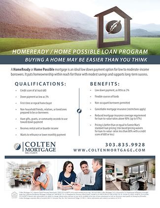 HomeReady/Home Possible Loan Flyer