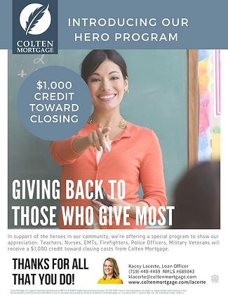 Heroes Program Flyer