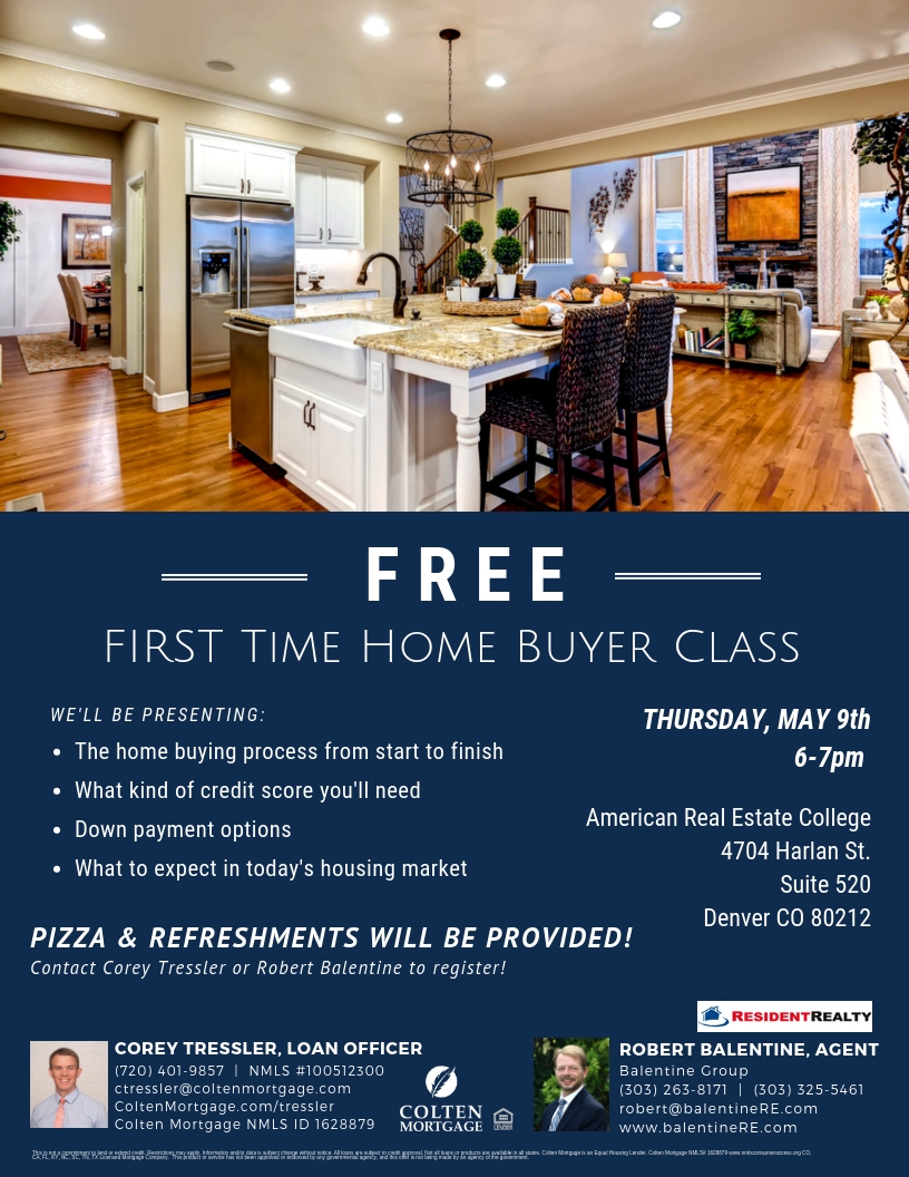 1st Time Home Buyer Class Flyer