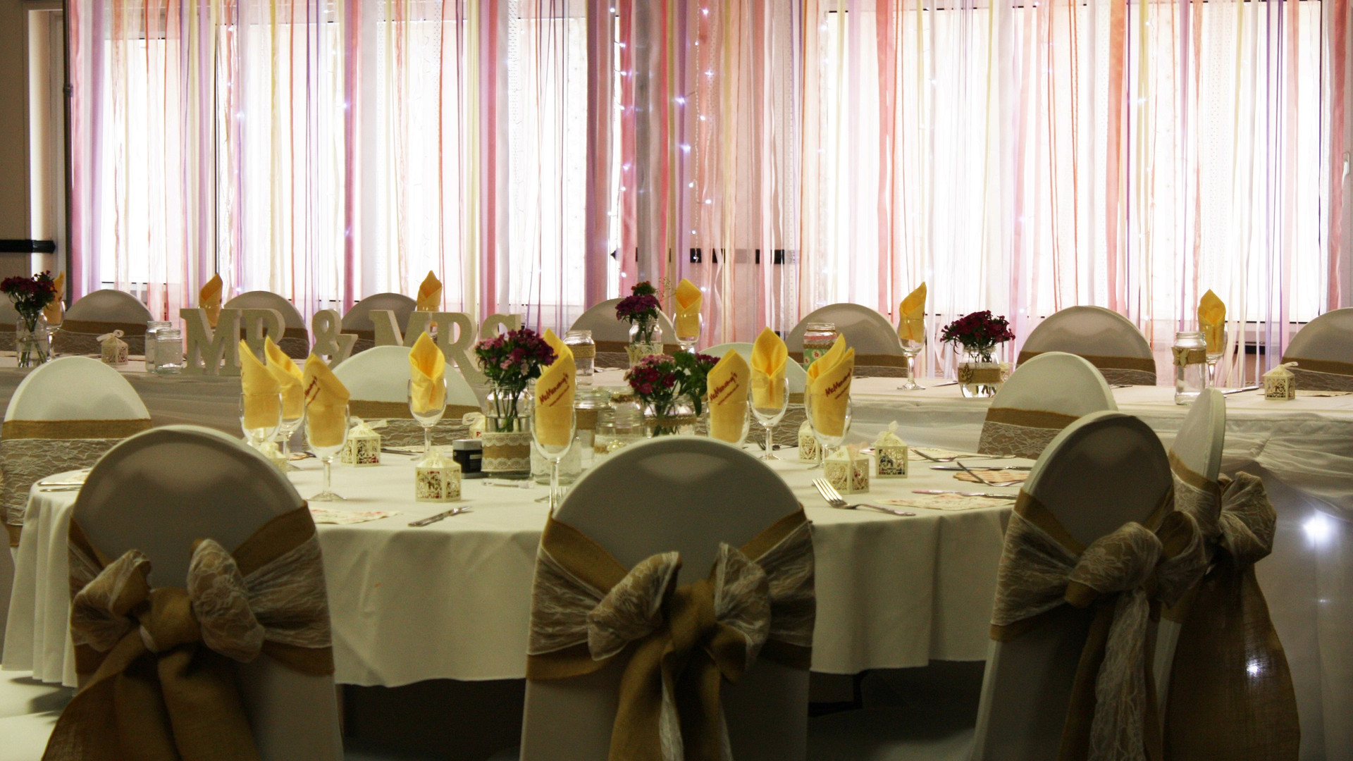 Wedding setup in the Kingswood Lounge