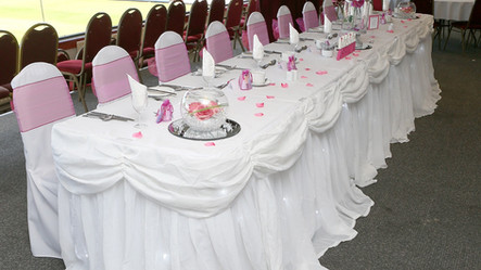 Wedding Top Table at McMenemy's