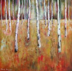 נוף ביער - עצי לבנה 80_80 ס_מ