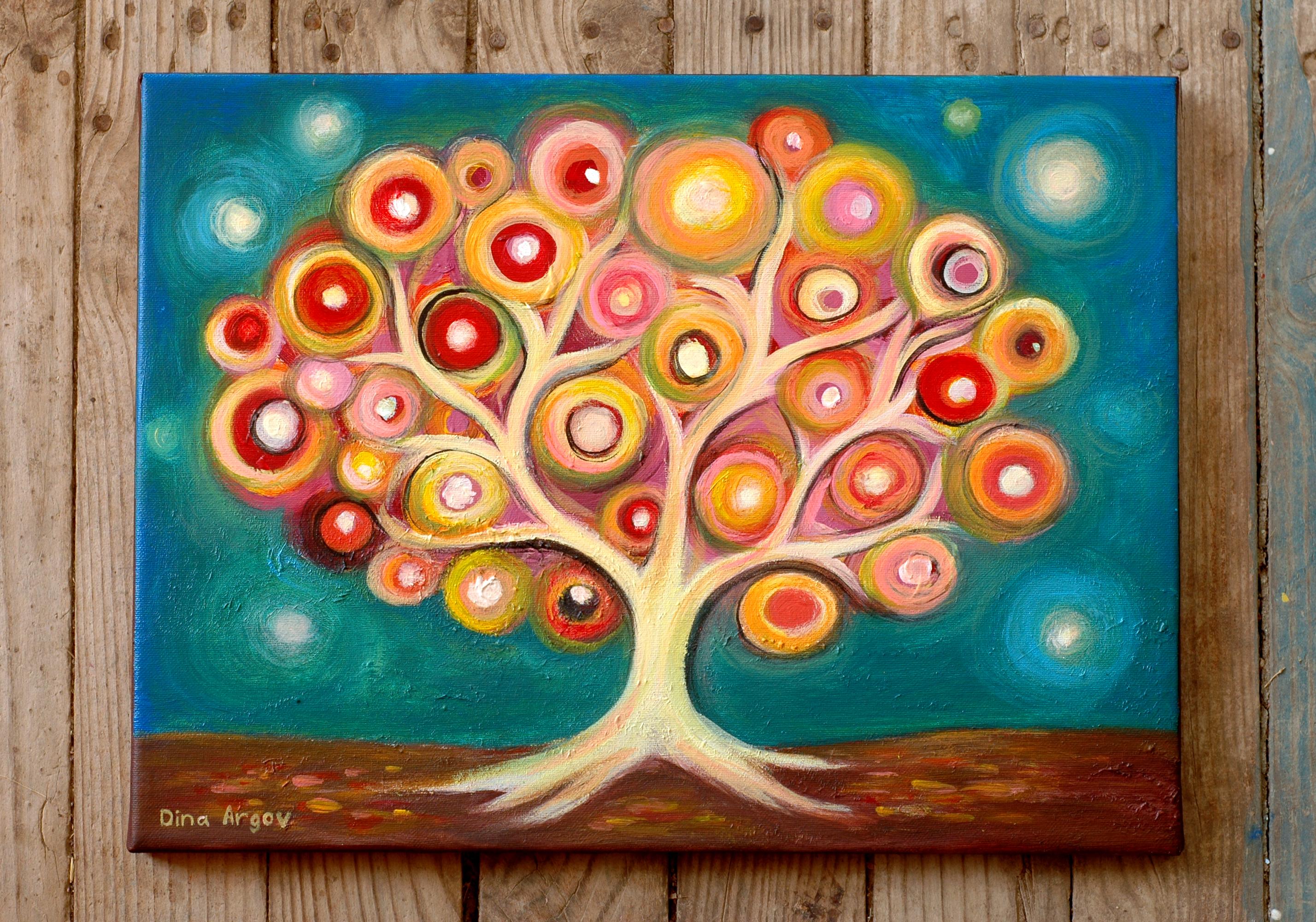 עץ עיגולי אור דינה ארגוב