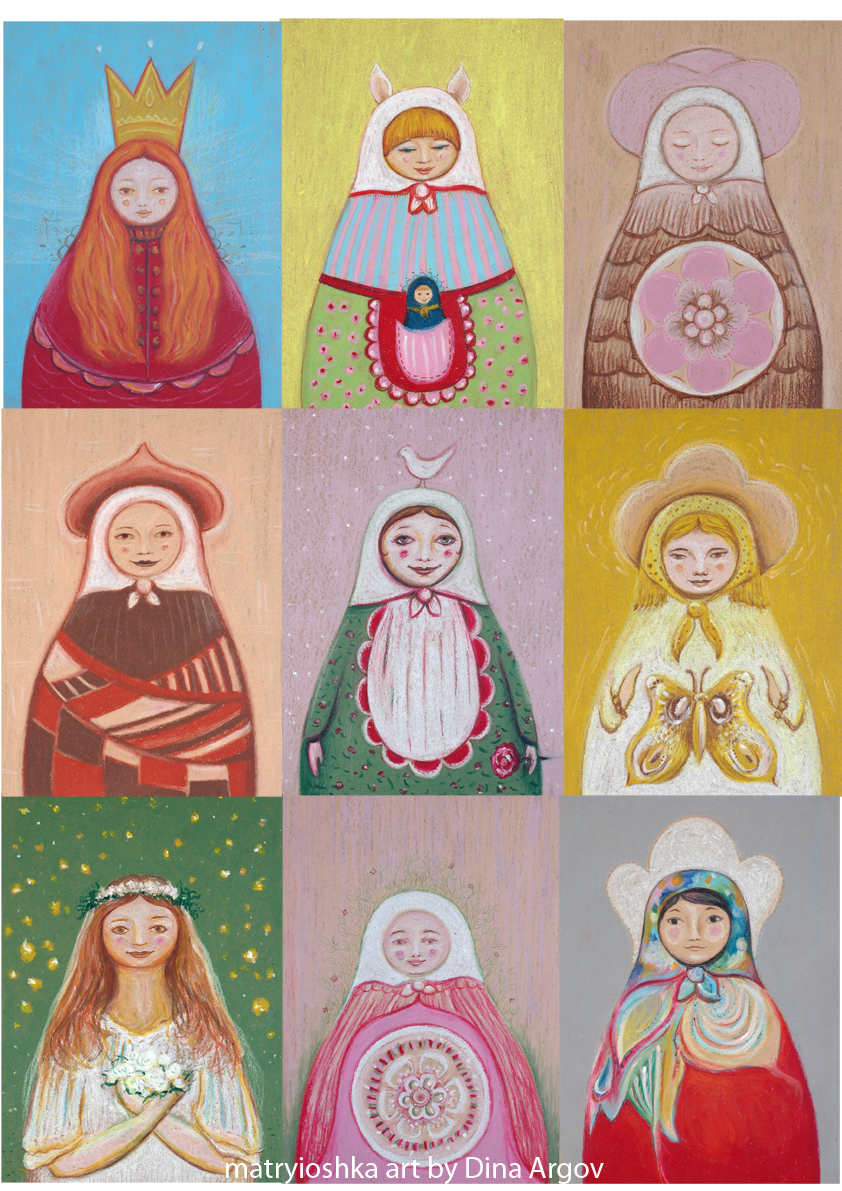 Matryoshkas poster net with text