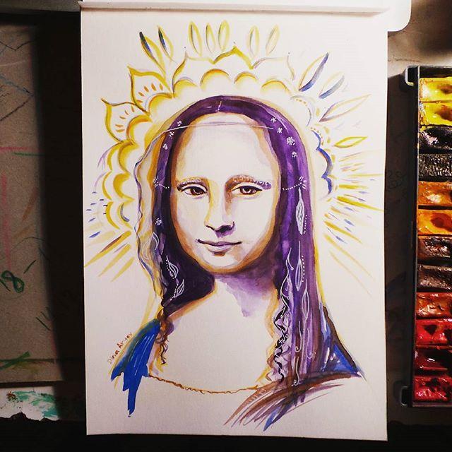 ציור מונה ליזה דינה ארגוב סטודיו לציור