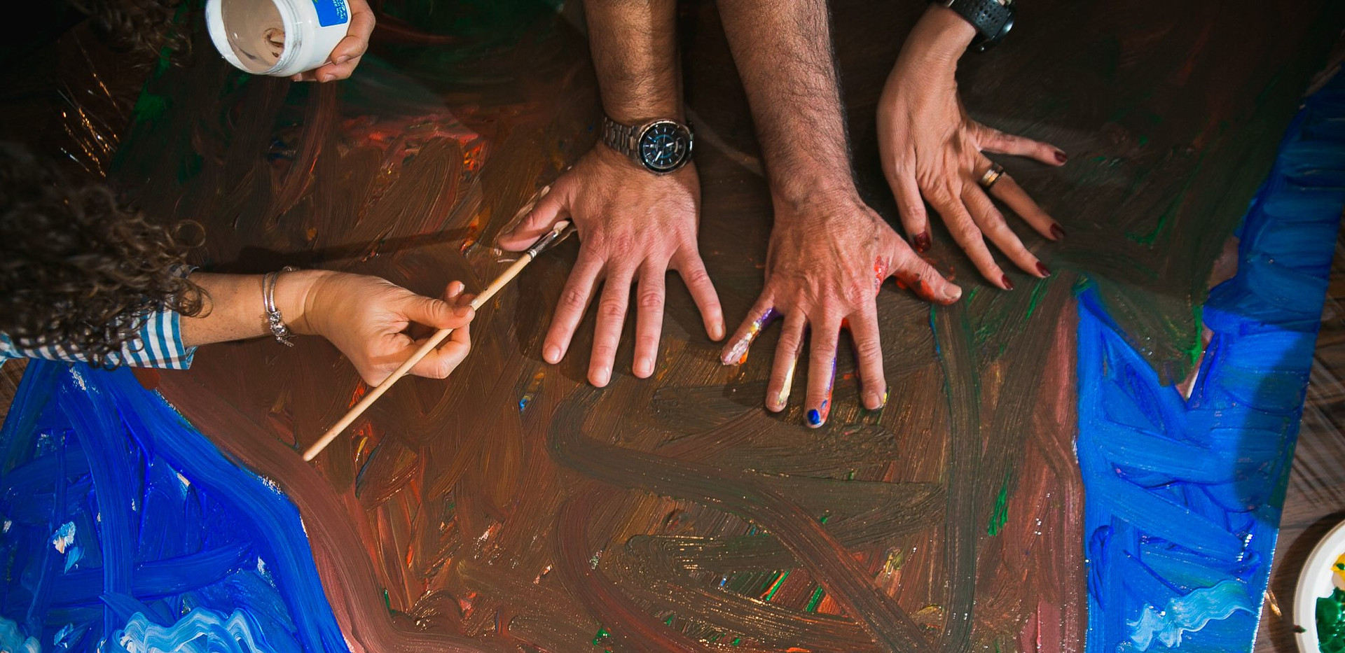 ציור שיתופי סדנה לארגונים