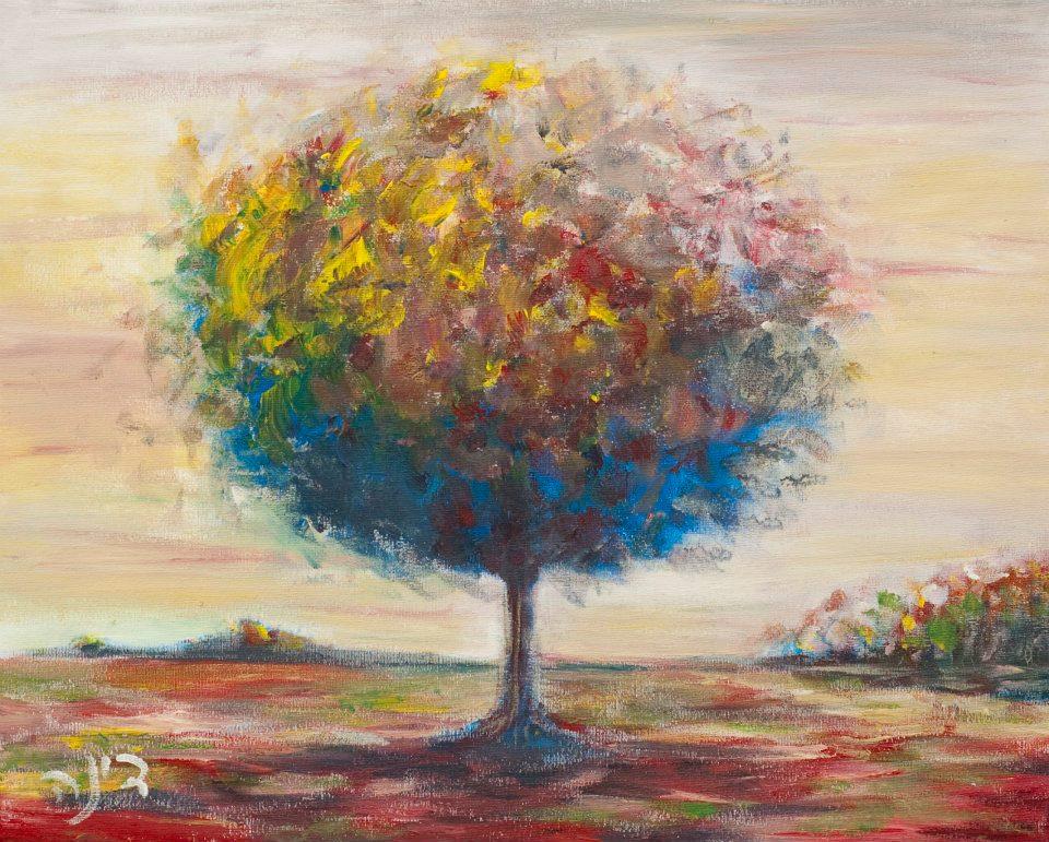 נוף עם עץ 40_45 ס_מ