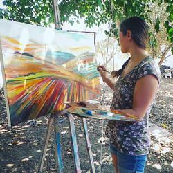 דינה ארגוב ציורים סטודיו לציור