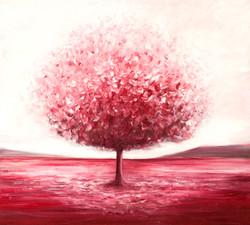 ציור עץ אדום - דינה ארגוב