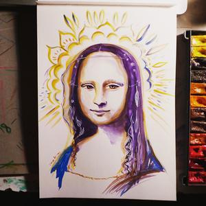 Mona Lisa Painting by Dina Argov