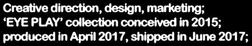 Creative direction, design, marketing;